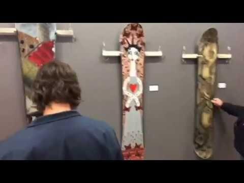 Snowboards As Art