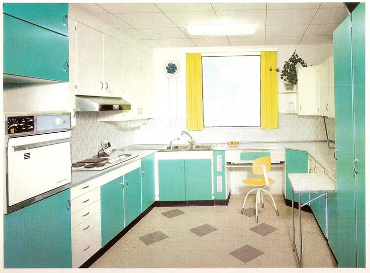1960 Das schöne Zuhause Küche grün (With images