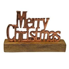Copper Standing Merry Christmas Sign