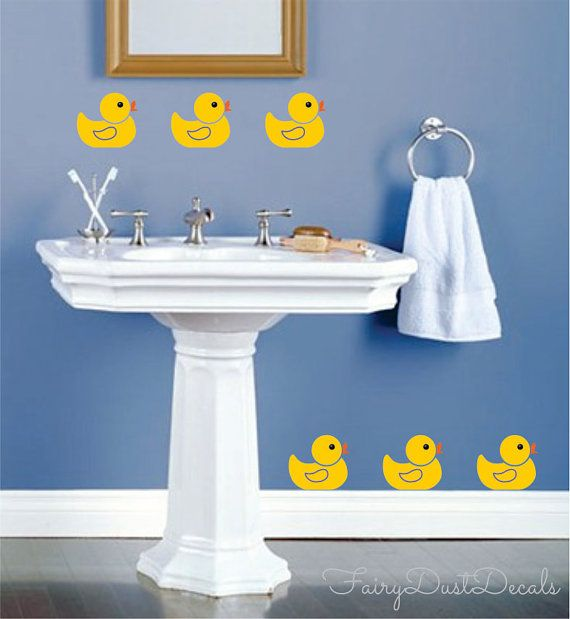 Yellow Rubby Ducky Wall Decals for the bathroom!  Love them!