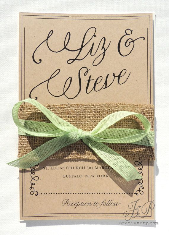Invites Burlap Wrapped Wedding Reception Invitations Burlap Wedding
