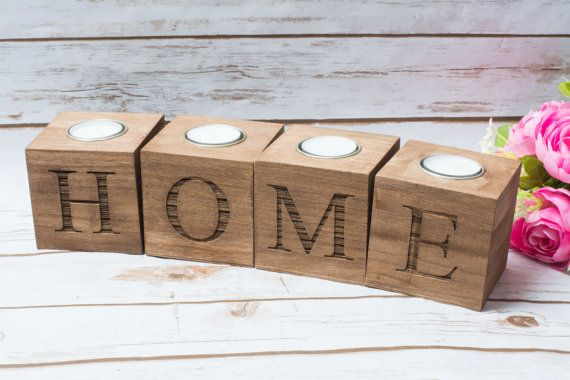 Love Candle Holder Wood Love Sweet Table sign Decor Wedding Candles Holder wooden holder Gift for the Mr Mrs Home Decoration