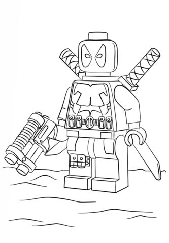 LEGO Deadpool Printable Coloring Pages