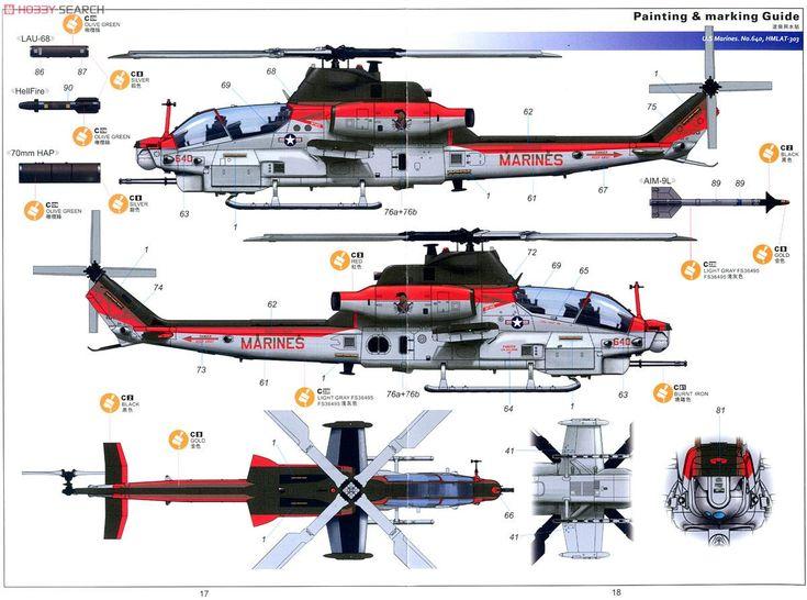 AH-1Z ヴァイパー アメリカ海兵隊攻撃ヘリコプター (プラモデル) 塗装3
