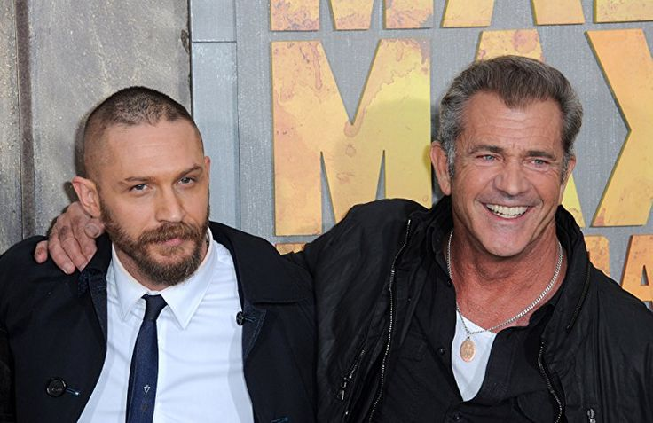 Mel Gibson and Tom Hardy at an event for Mad Max: Fury Road (2015)