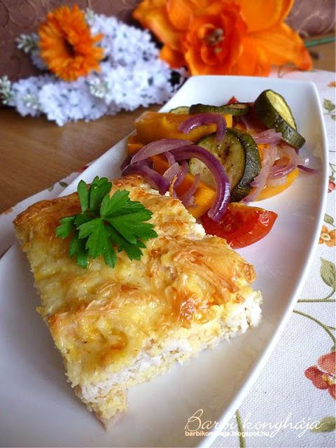 Barbi konyhája: Rakott csirkemell kókuszliszttel, sült zöldségköre...