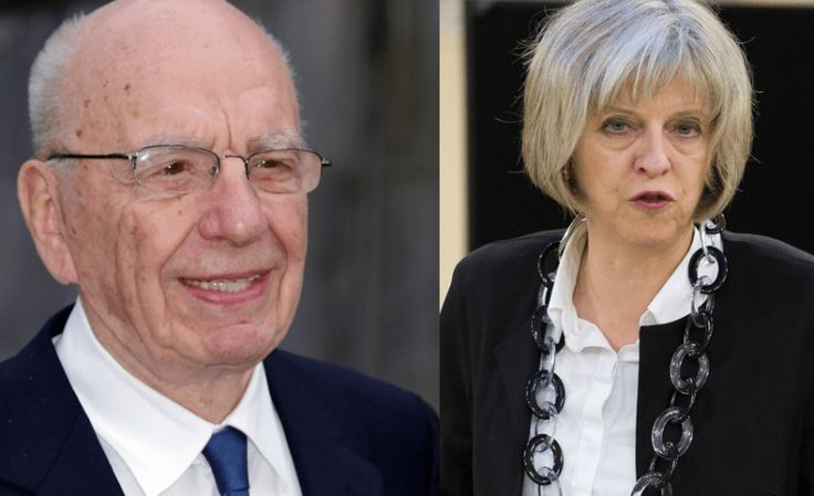 Everyone's furious about the secret meeting between Theresa May and Rupert Murdoch September 30 2016