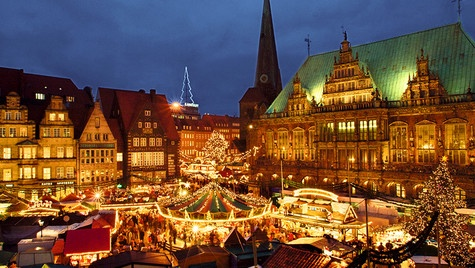 Christmas market in Bremen, Germany