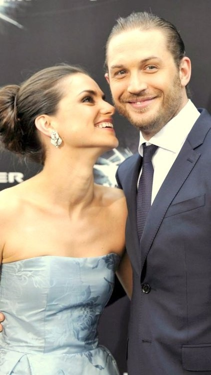 """Tom Hardy and his lovely fiancee Charlotte Riley, or as Tom affectionately refers to her, """"Charlie Monkey"""" <3"""