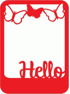 Silhouette Design Store - View Design #62564: hello butterfly photo frame