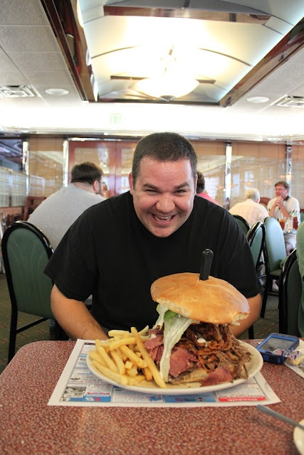 Look at that sandwich!  Look at that face! LOL!Face, Sandwiches, Smile