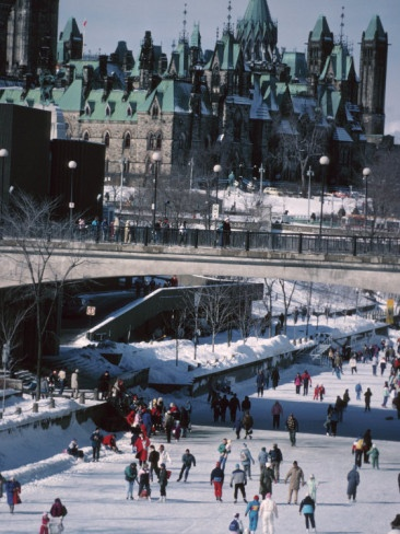 Skating on the Rideau Canal - Ottawa, Ontario, Canada