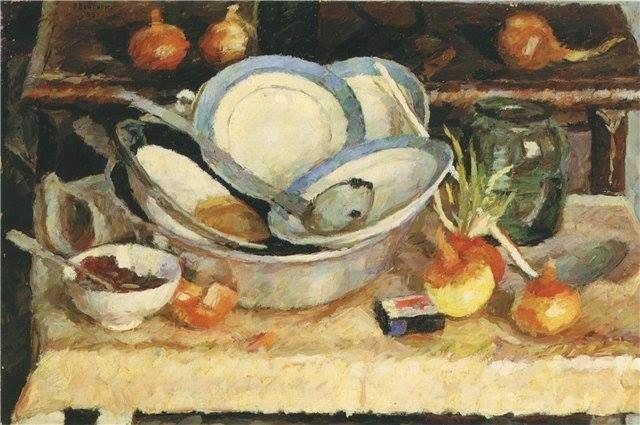 Vladimir Veisberg 1955  Вейсберг Владимир Григорьевич (1924-1985) «Неубранный стол» 1955