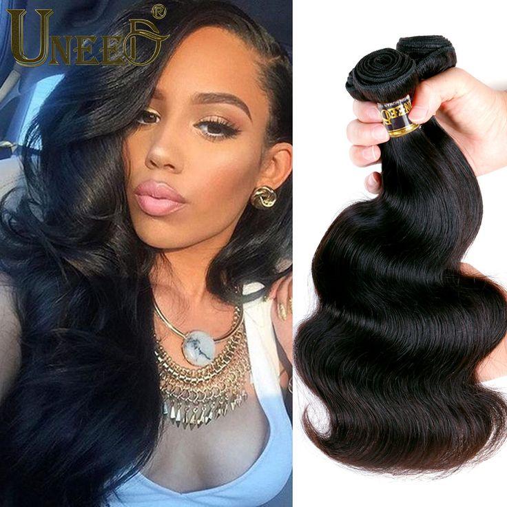 ブラジルバージンヘア実体波3バンドルqueen hair製品ブラジル実体波安いブラジル髪織りバンドル100グラム/ピース