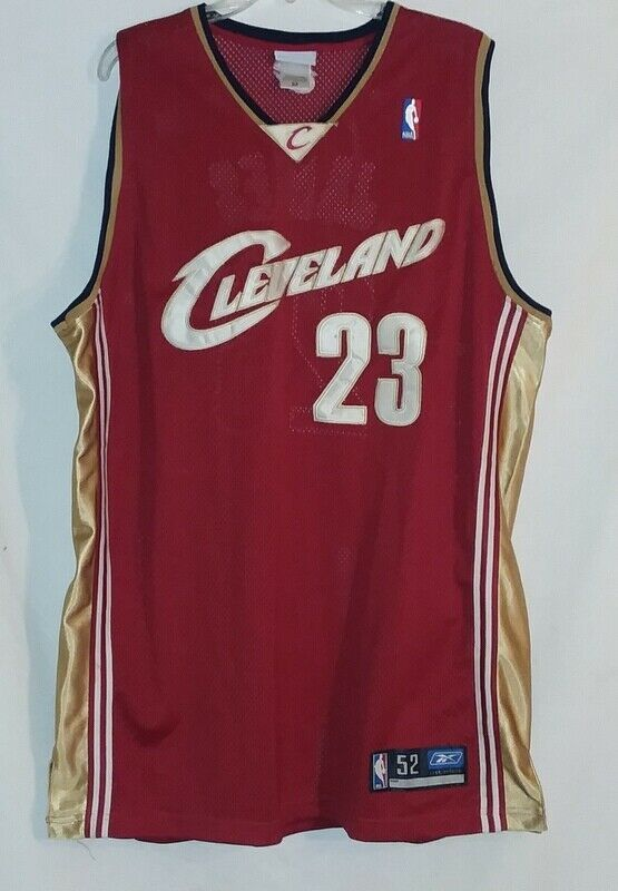 buy popular a7efb 1f029 Reebok NBA Lebron James Jersey #23 Cavilers Red Gold 2003 ...