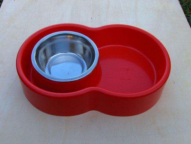 Ciotola Eureka antiformiche cani gatti rossa con inserto inox anti formiche