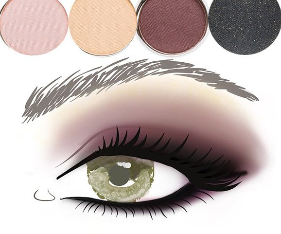"""Jane Iredale """"Smoke Gets in your Eyes"""" palette.  Great aubergine color."""