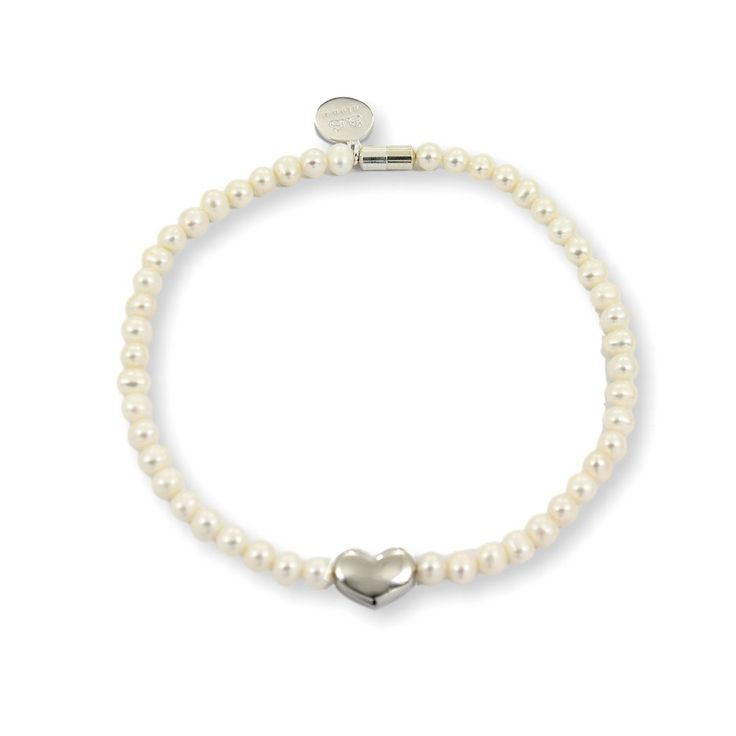 NICOLE HEART Choker - Silver with White Pearls