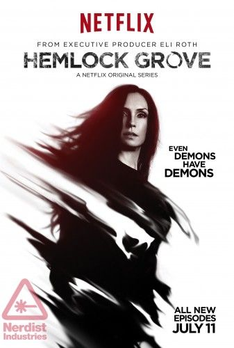 Hemlock Grove Season 2. There is more fake blood in this horror series than I have ever seen before! Not for the faint of heart.