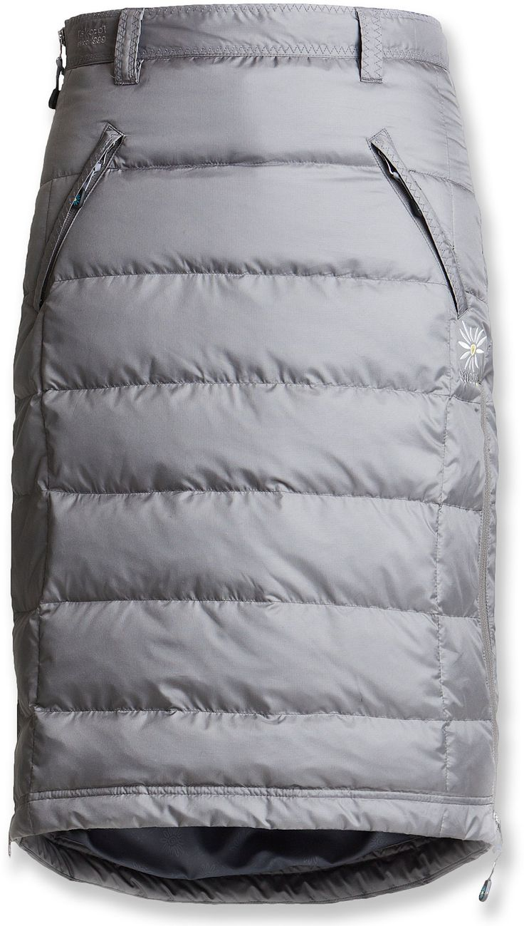 Skhoop Mid Down Skirt - REI.com It's like wearing your sleeping bag everywhere! I must get one