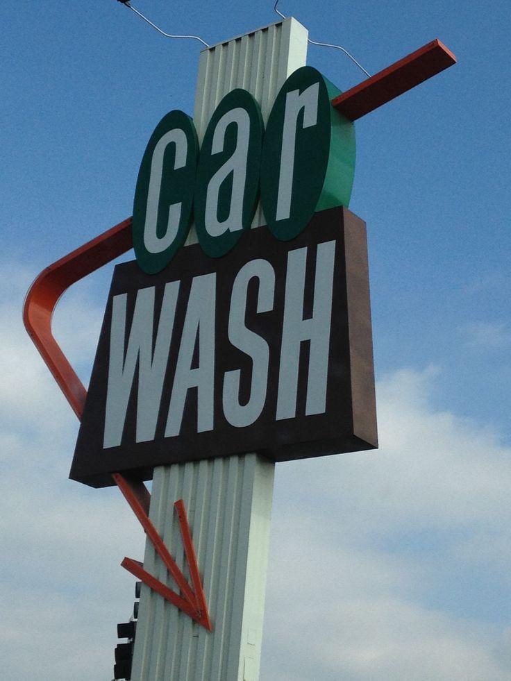 Burbank Car wash, Restaurant signs