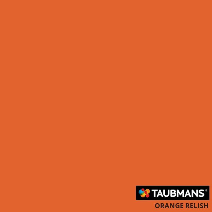 #Taubmanscolour #orangerelish Paint colour used on side table makeover
