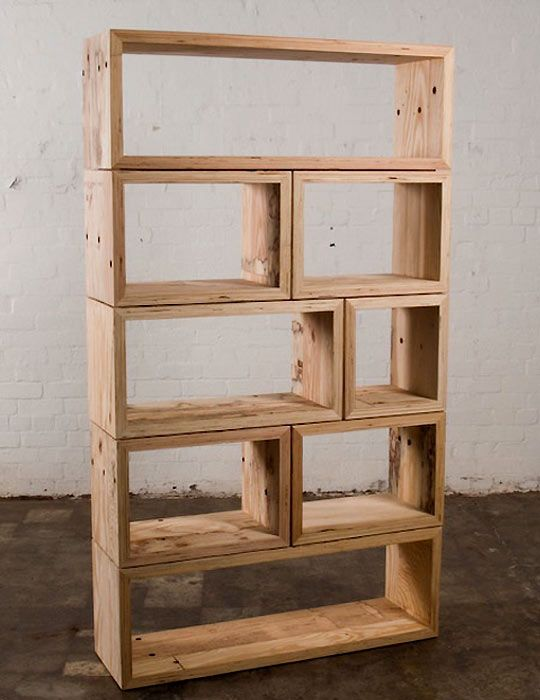 Packing crate book shelves. I need three or four of these to fill a wall and I will probably still have books left over.