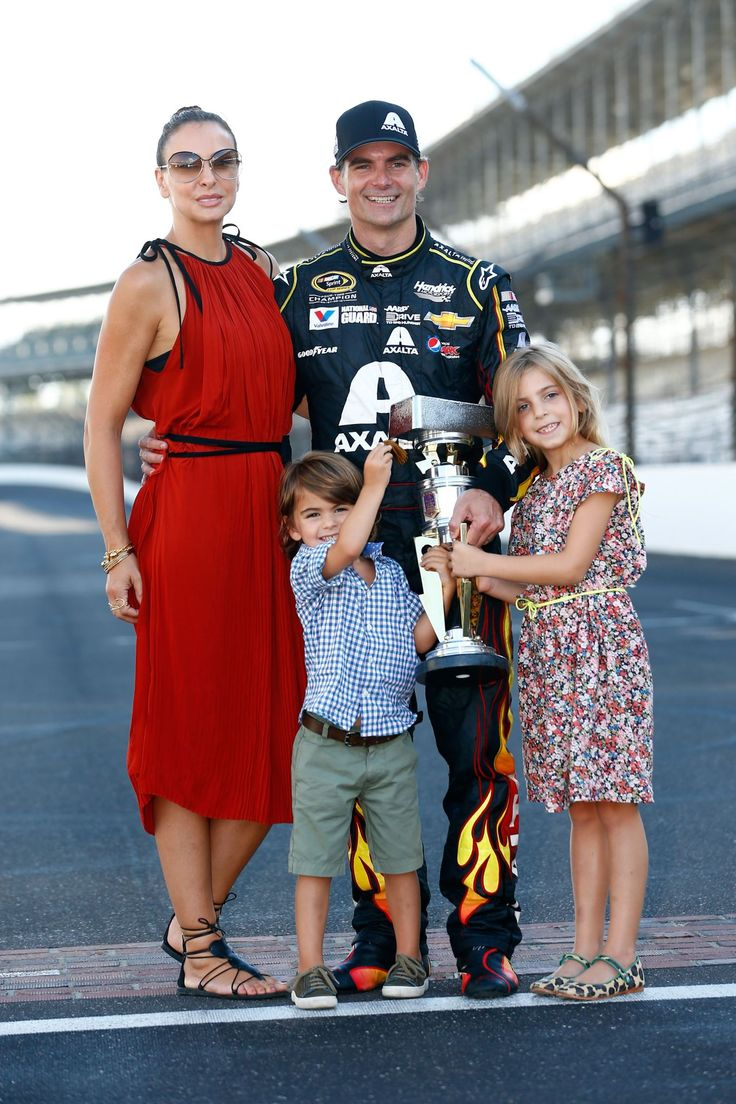 Nascar Wives & Girlfriends - Jeff Gordon's wife and children - this is his last year to drive 2015.