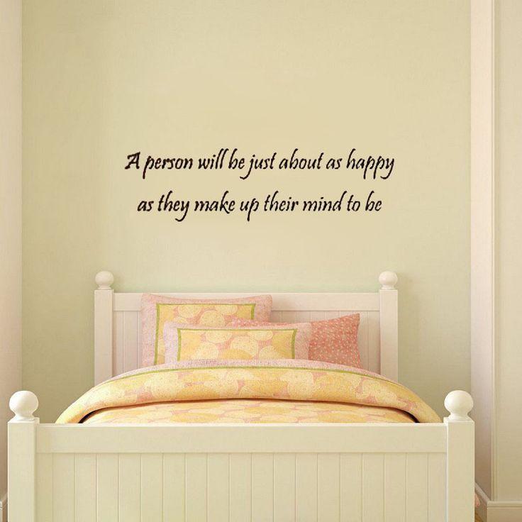 Человек будет почти так же счастлива... ум, чтобы быть наклейки для стен виниловые наклейки домашнего декора гостиной настенные панно цитата