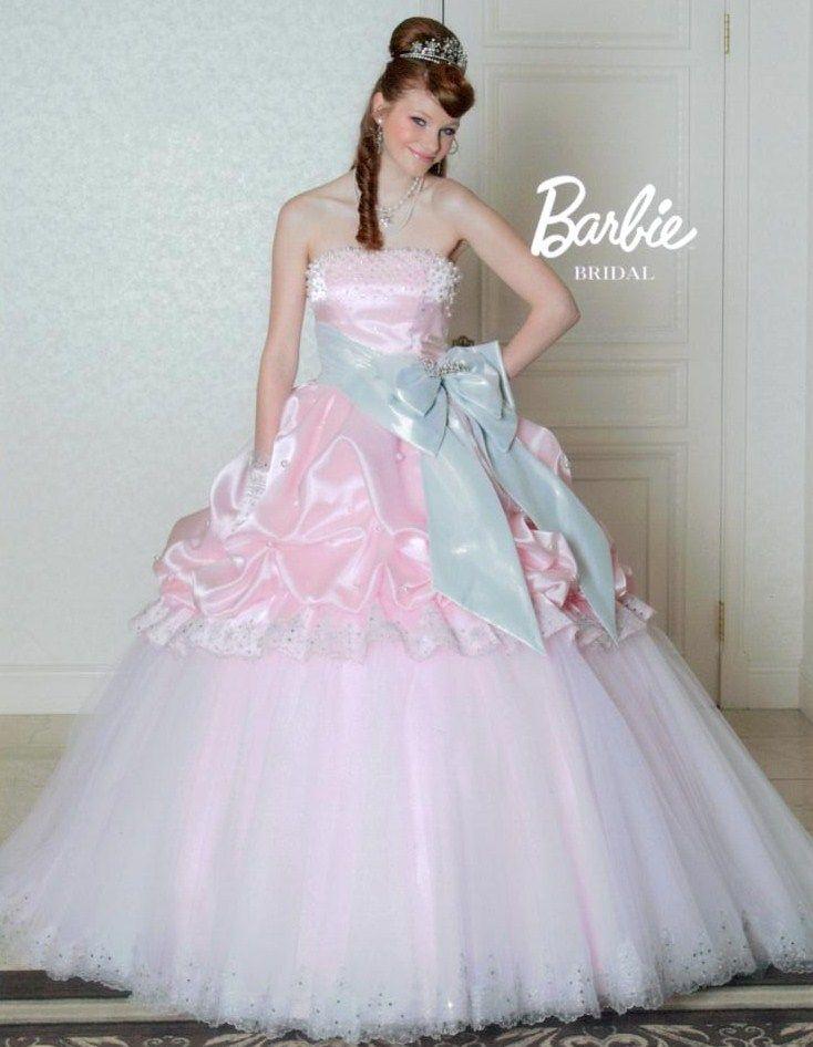 鮮やかなピンクとシルバ-の色使いがスイ-トな「Barbie BRIDAL」