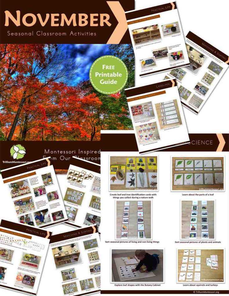Classroom Ideas For November ~ Best seasonal november fall harvest leaves