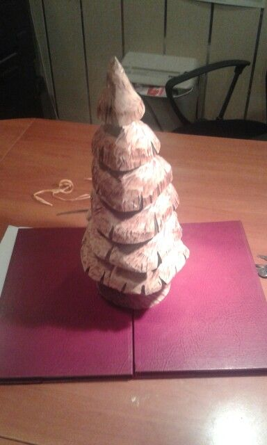Cherry carved Christmas tree - just for you dear Santa