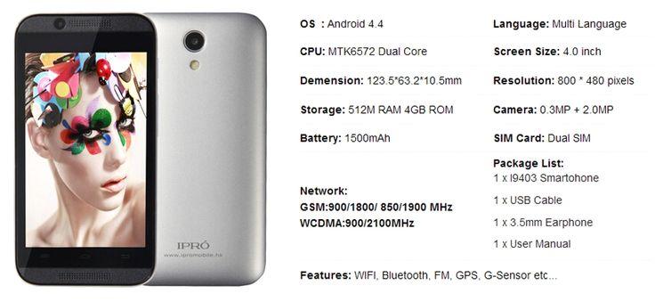 IPRO 4.0″ Unlocked Mobile Phone MTK6572 Dual Core Celular Android 3G WCDMA Smartphone RAM 512MB ROM 4GB Dual SIM GPS Russian   http://www.dealofthedaytips.com/products/ipro-4-0-unlocked-mobile-phone-mtk6572-dual-core-celular-android-3g-wcdma-smartphone-ram-512mb-rom-4gb-dual-sim-gps-russian/