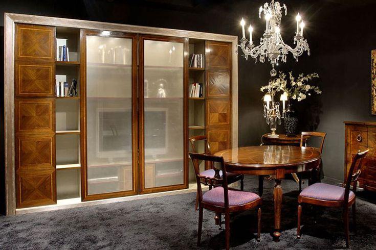 Pareti attrezzate classiche n soggiorno fiore rosa e for Garfagnana arredamenti rustici