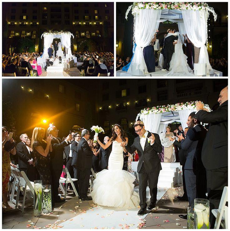 Las Vegas Wedding Planner Hilton Lake Evening Ceremony Jewish
