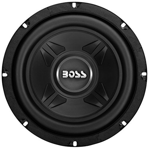 """With Extreme looks and bass output, the CXX8 8"""" Chaos Extreme Series Single Voice Coil Subwoofer from Boss Audio Systems is the stylish upgrade to your car's audio system with super-clear lows. With a metallic black finish that accents any interior and impressive 600 watts of power..."""