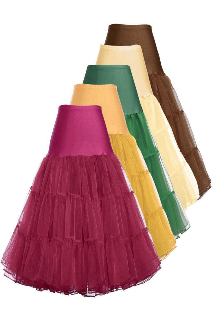 Red Retro Swing 50s Tutu Underskirt Petticoat Wedding Rockabilly Fancy Dress New