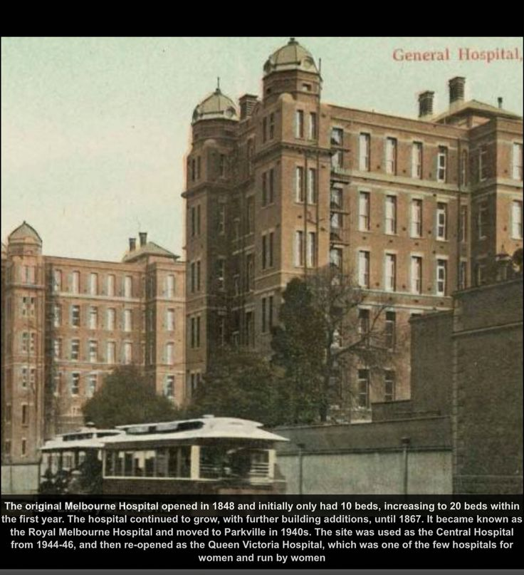 1845 - The original Melbourne Hospital