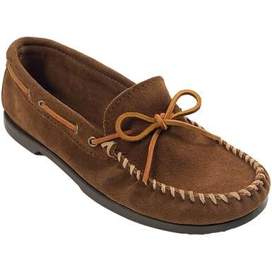 8486c1e4137 Minnetonka Camp Moc Slippers - Mens Dusty Brown Suede