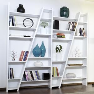 Asymetrical bookshelves from Homebody Products