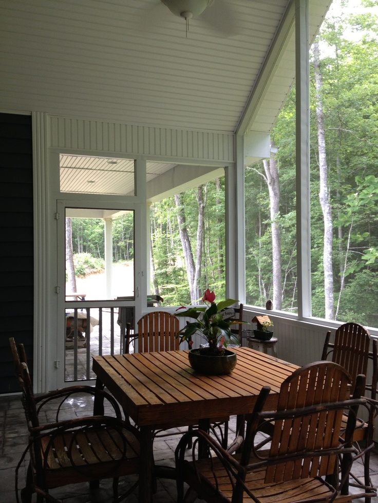 17 best images about screen porch on pinterest woodstock for Craftsman screened porch