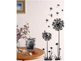 EXTRA STOR! Wallies Blommor Maskrosor Väggdekor 70*50cm