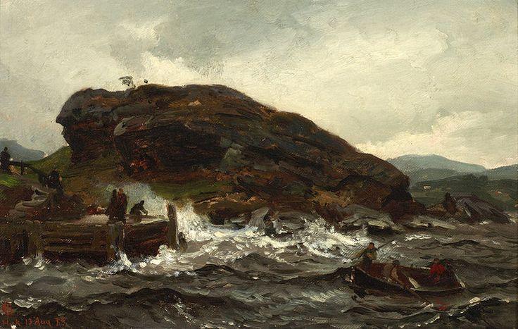 Hans Gude (1825-1903): Tordenveirsstudie,1873 (tordenveir = thunderstorm)