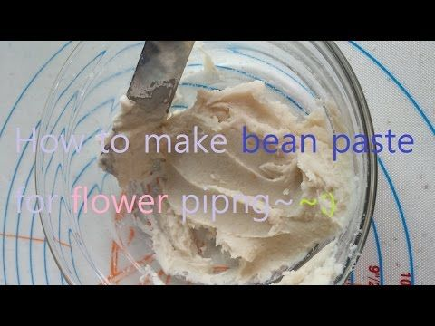 how to make bean paste for piping 앙금만들기 - YouTube