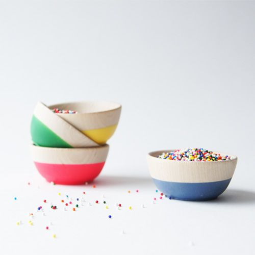 Colorful dipped bowls
