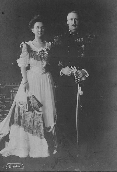 HM Queen Wilhelmina and HRH Prince Hendrik, Prince Consort of the Netherlands. Married: February 7, 1901