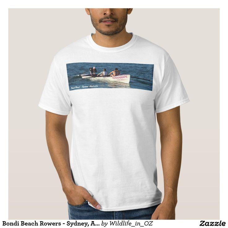 Bondi Beach Rowers - Sydney, Australia Tshirt Bondi Beach Australiana - Click on photo to view item then click on item to see how to purchase that item. #bondibeach #bondi #iconicbeach #sydney #australia #surf #sunrise #sand #surf #rowing