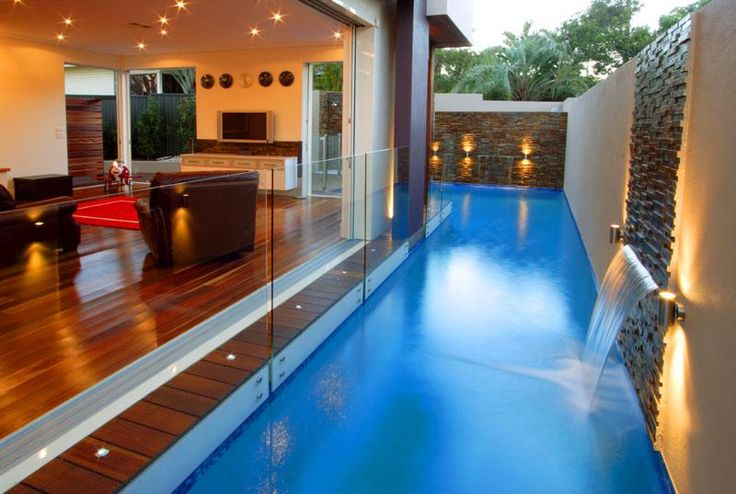 Lap Pool? water feature., Frameless Glass Pool Fencing, S... - ThingLink