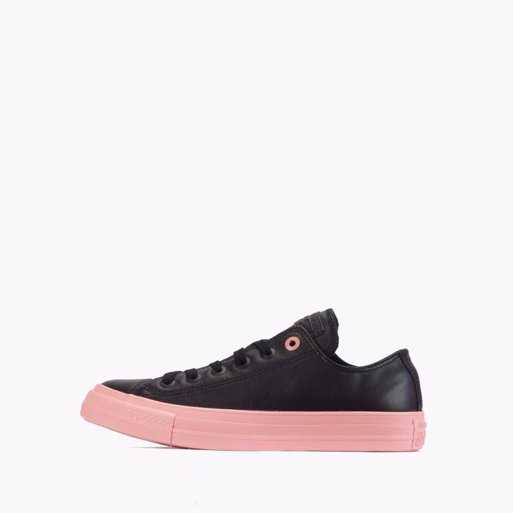 Converse Chuck Taylor All Star Ox Low Womens Plimsolls Shoes Black/Pink #Converse #CasualShoesTrainersPlimsolls