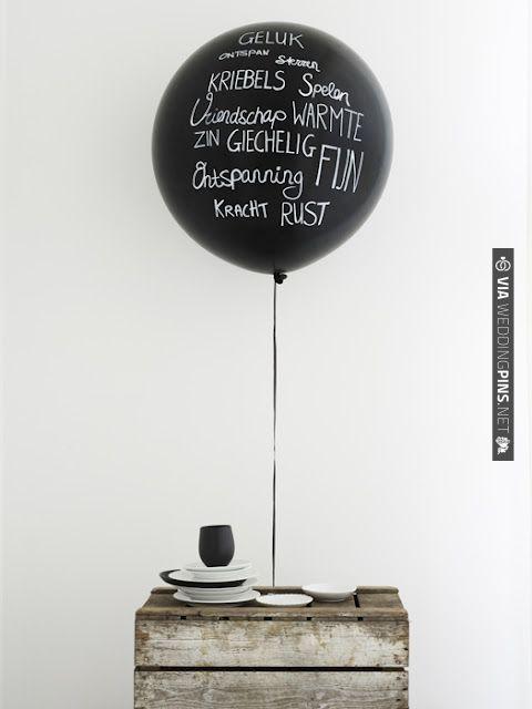 handwriting on balloons